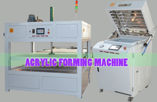 Notes for Acrylic forming machine: