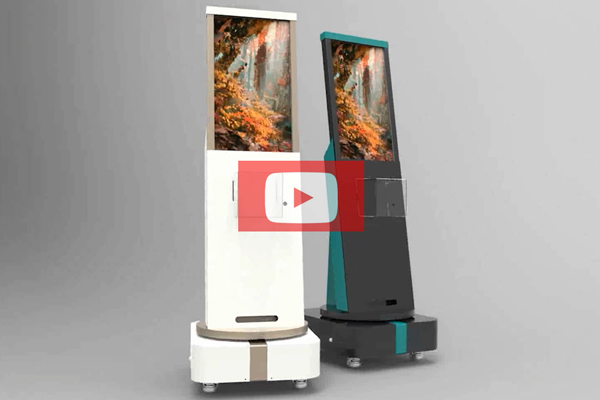 BYTCNC advertising kiosk intelligent rotate digital signage robot
