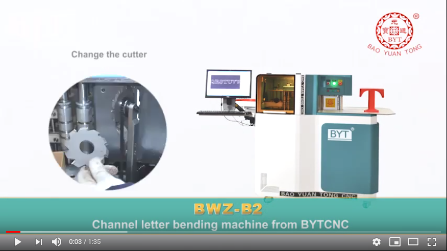 Channel letter bender BWZ-B2
